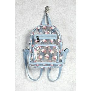 Forever 21 Mini Clear Backpack